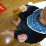 赤ちゃんパスタで遊ぶ